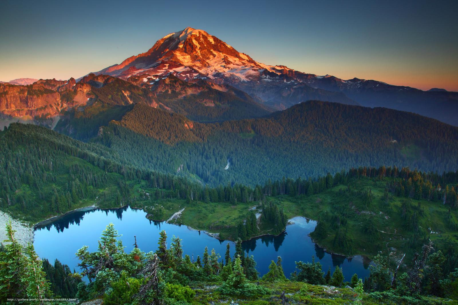 Descargar gratis Montañas,  lago,  árboles,  paisaje Fondos de escritorio en la resolucin 2100x1400 — imagen №561857