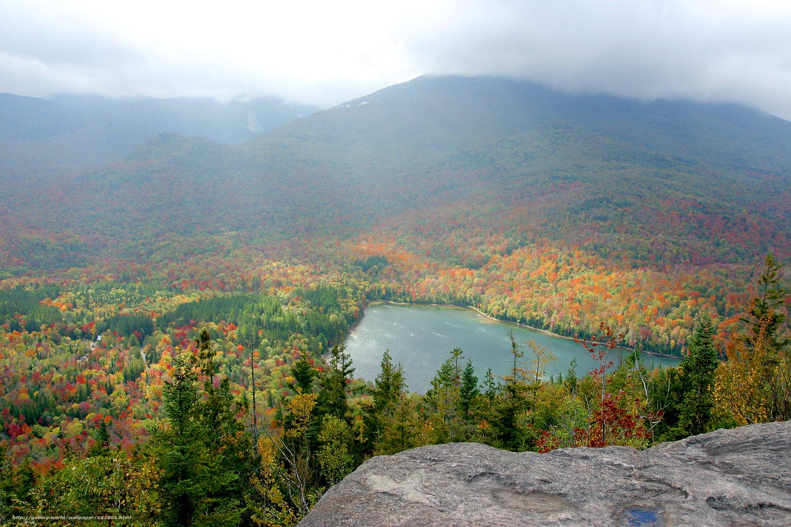 Скачать обои Adirondacks,  New York,  осень,  озеро бесплатно для рабочего стола в разрешении 3072x2048 — картинка №562901