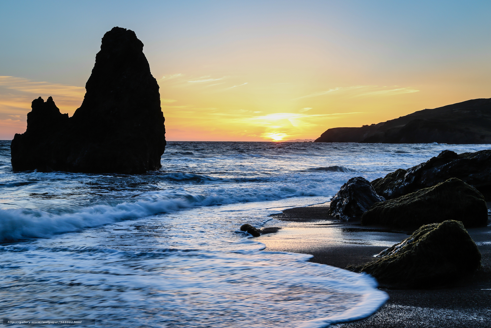 download hintergrund rodeo beach san francisco sonnenuntergang landschaft freie desktop. Black Bedroom Furniture Sets. Home Design Ideas