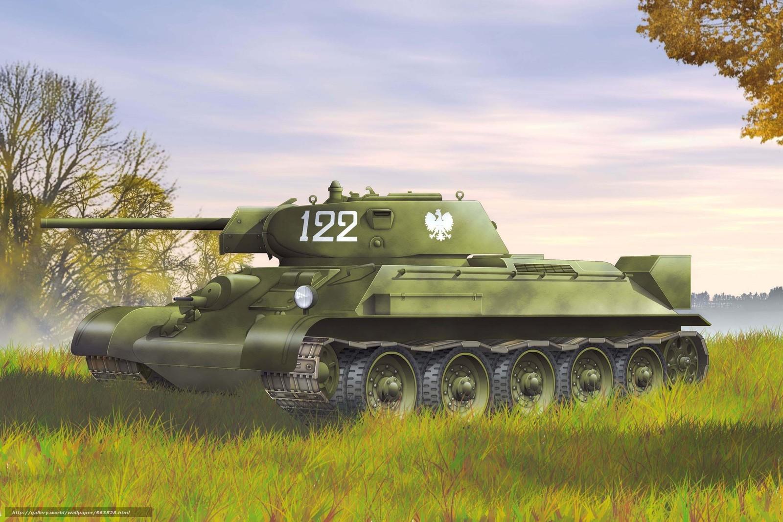 Скачать обои танк,  рыжик,  экипаж,  Советский бесплатно для рабочего стола в разрешении 2835x1890 — картинка №563528