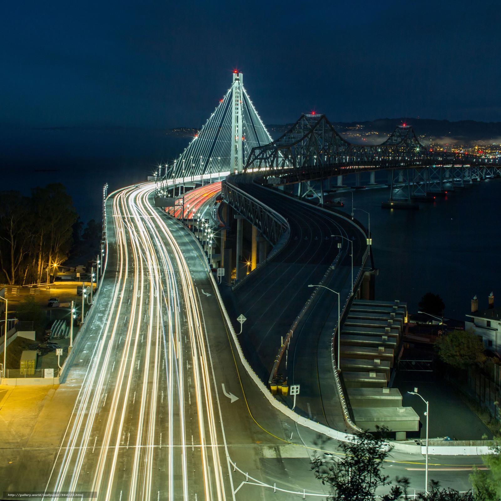下载壁纸 旧金山,  桥,  城市,  夜 免费为您的桌面分辨率的壁纸 4426x4426 — 图片 №564122