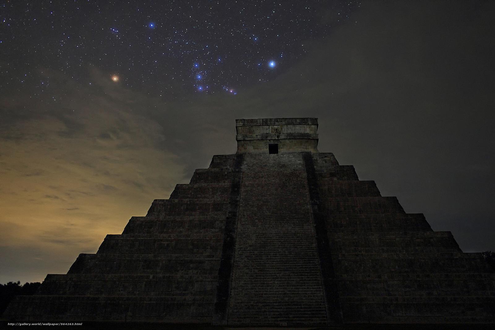 scaricare gli sfondi Орион,  пирамида,  Stella Sfondi gratis per la risoluzione del desktop 1920x1280 — immagine №564263