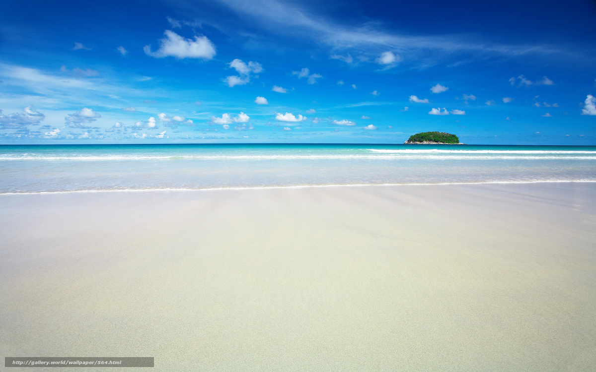 Download wallpaper Sea,  sand,  beach,  paradise free desktop wallpaper in the resolution 2560x1600 — picture №564