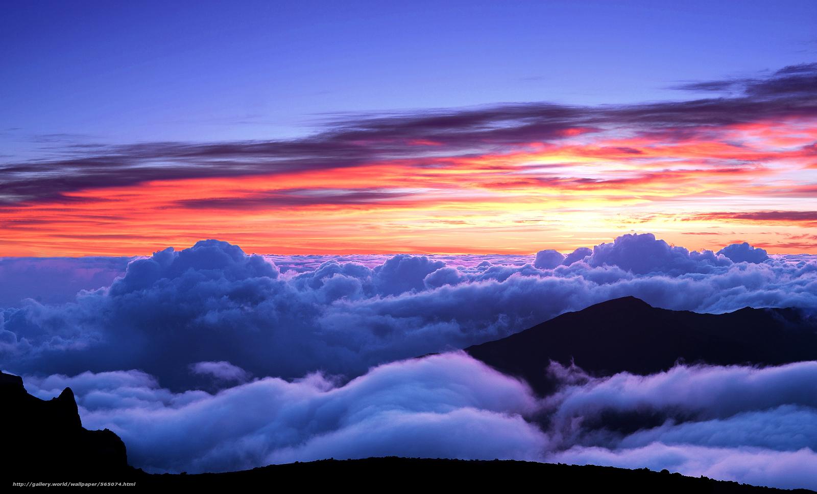 tlcharger fond d 39 ecran coucher du soleil ciel montagnes nuages fonds d 39 ecran gratuits pour. Black Bedroom Furniture Sets. Home Design Ideas