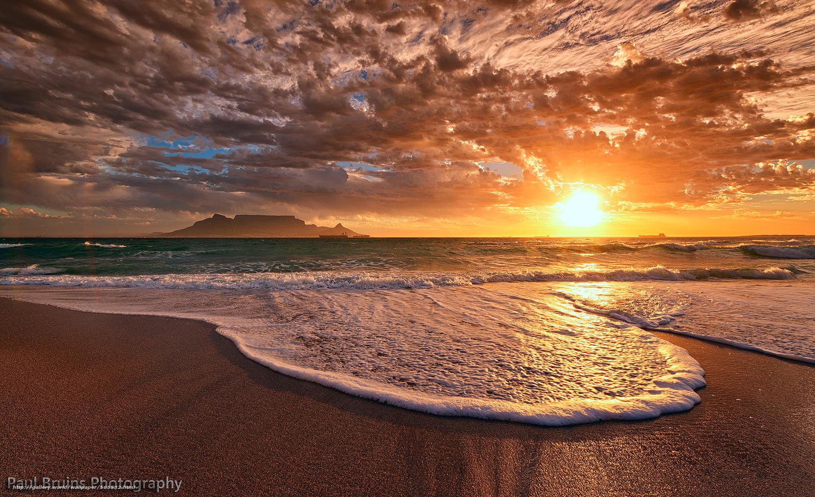 scaricare gli sfondi oceano,  cielo,  spiaggia,  sera Sfondi gratis per la risoluzione del desktop 2048x1249 — immagine №565532