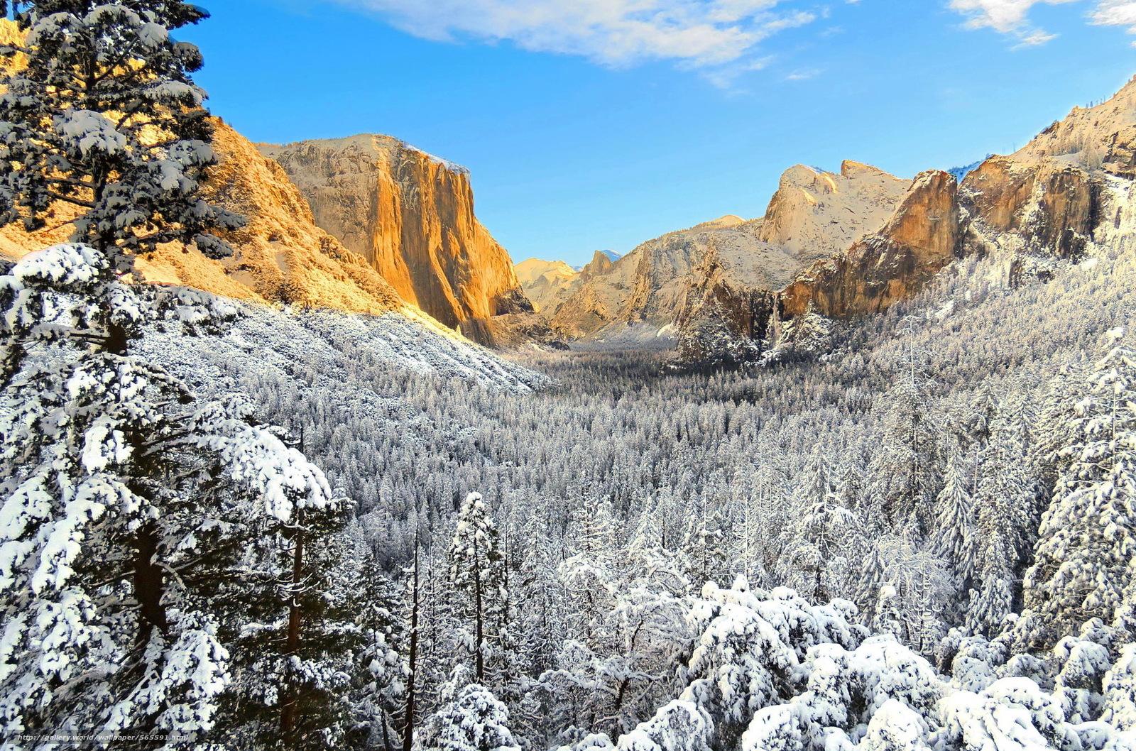 下载壁纸 美国,  优胜美地,  加州,  冬天 免费为您的桌面分辨率的壁纸 2022x1337 — 图片 №565591