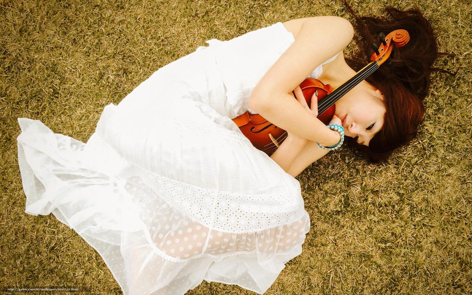 Download wallpaper Asian,  violin,  Music,  girl free desktop wallpaper in the resolution 1920x1200 — picture №565710