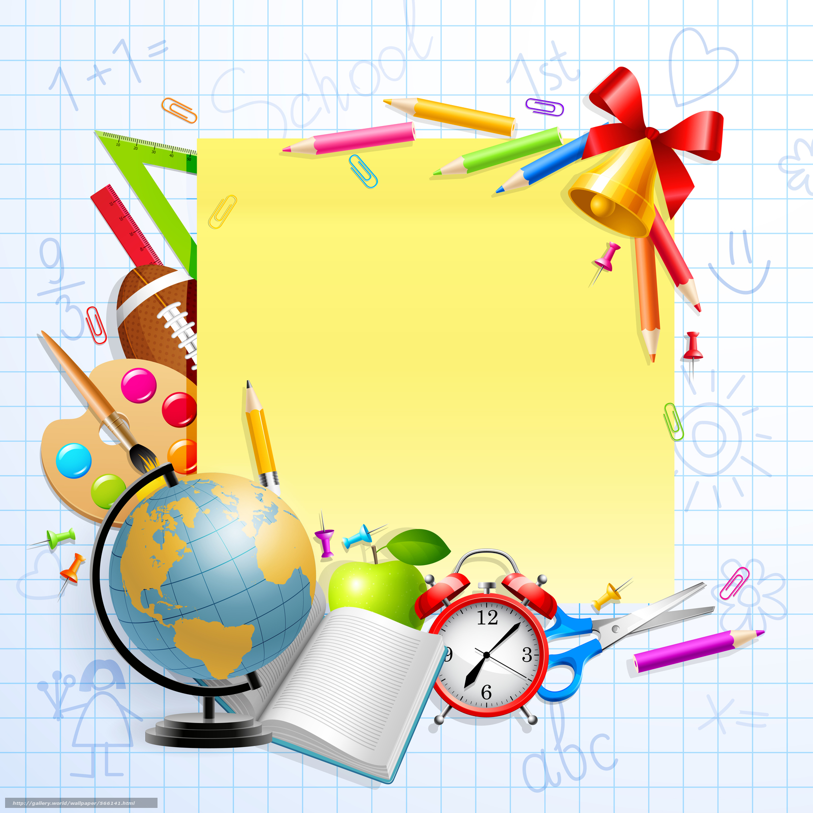 "download wallpaper stationery schedule back to school training aids free desktop wallpaper in the resolution 7087x7087 picture a""–566141"