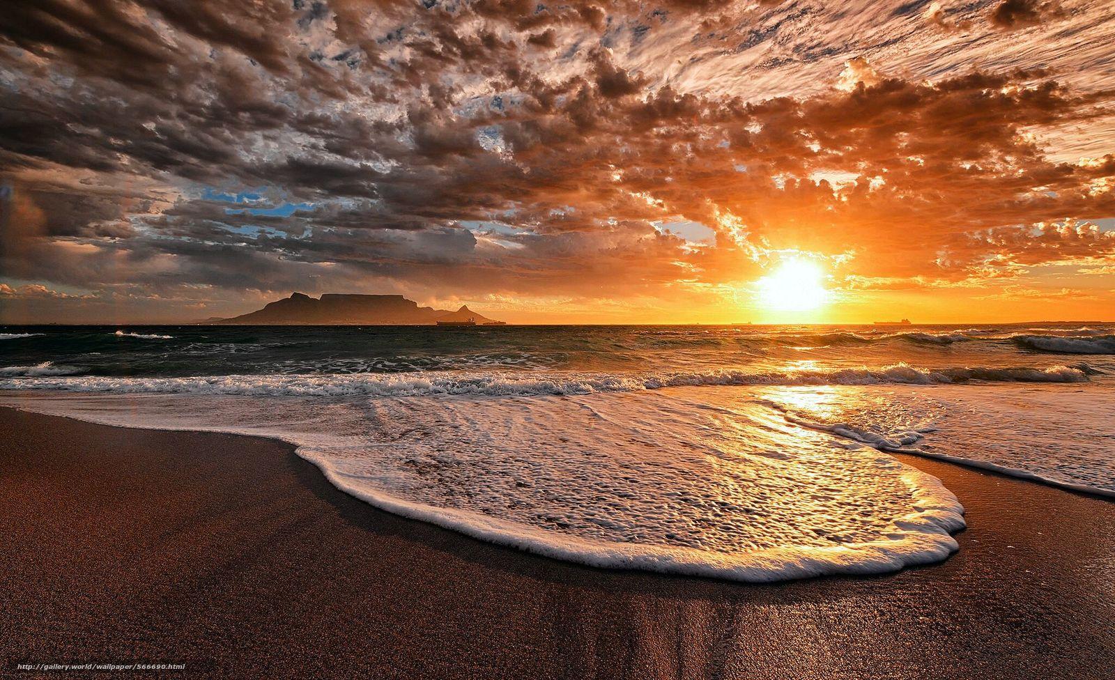 scaricare gli sfondi oceano,  cielo,  spiaggia,  sera Sfondi gratis per la risoluzione del desktop 2048x1249 — immagine №566690