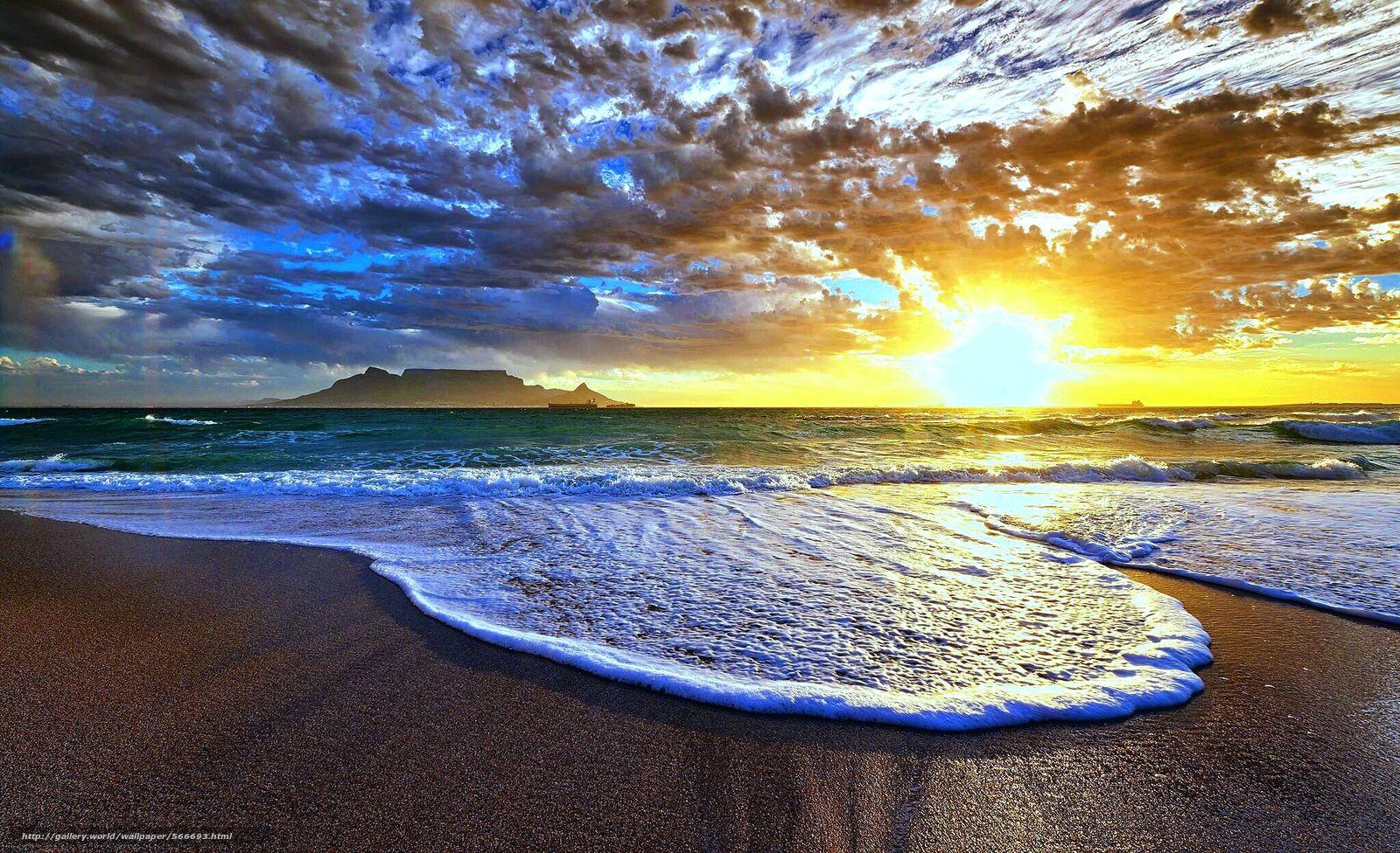 scaricare gli sfondi oceano,  cielo,  spiaggia,  sera Sfondi gratis per la risoluzione del desktop 2048x1249 — immagine №566693