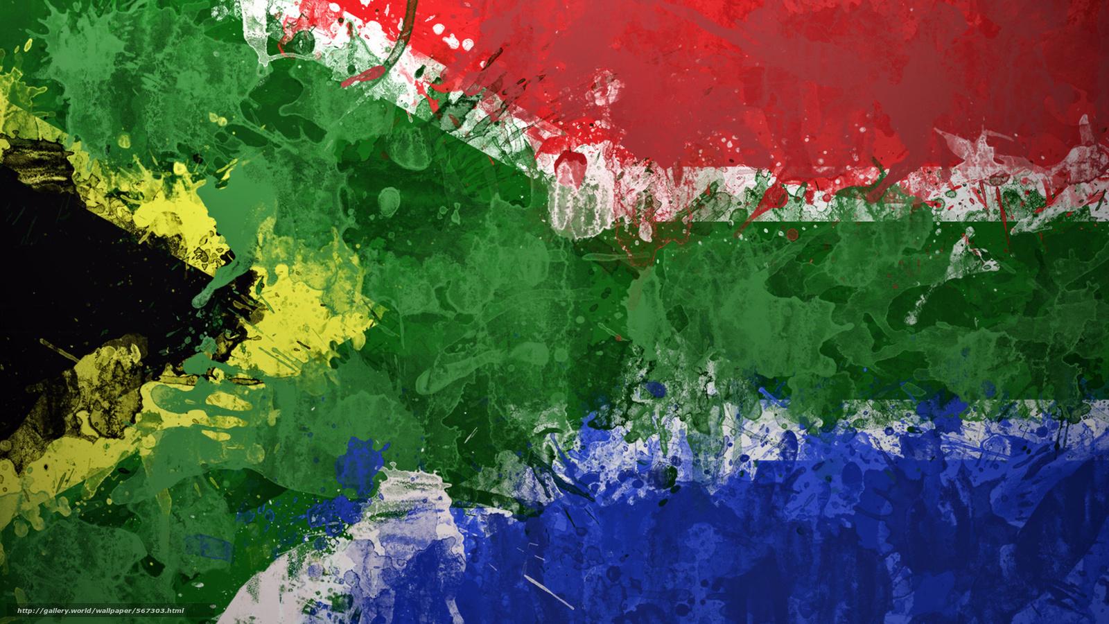 scaricare gli sfondi STRUTTURA,  Sudafrica,  bandiera Sfondi gratis per la risoluzione del desktop 1920x1080 — immagine №567303
