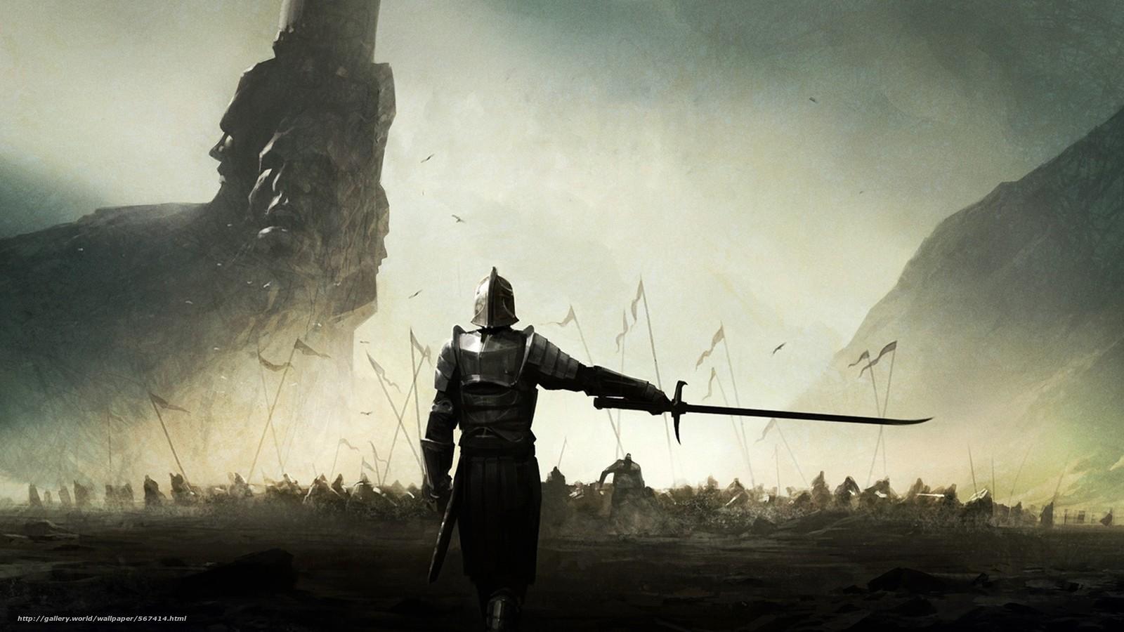 scaricare gli sfondi esercito,  Montagne,  guerriero,  spada Sfondi gratis per la risoluzione del desktop 1920x1080 — immagine №567414