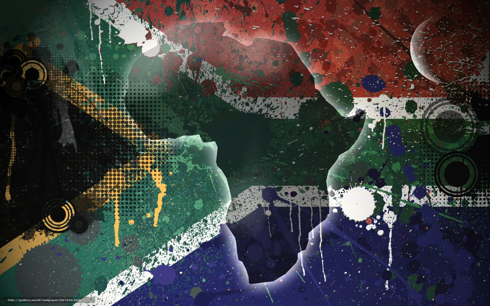 scaricare gli sfondi STRUTTURA,  Sudafrica,  isola,  bandiera Sfondi gratis per la risoluzione del desktop 1920x1200 — immagine №567436
