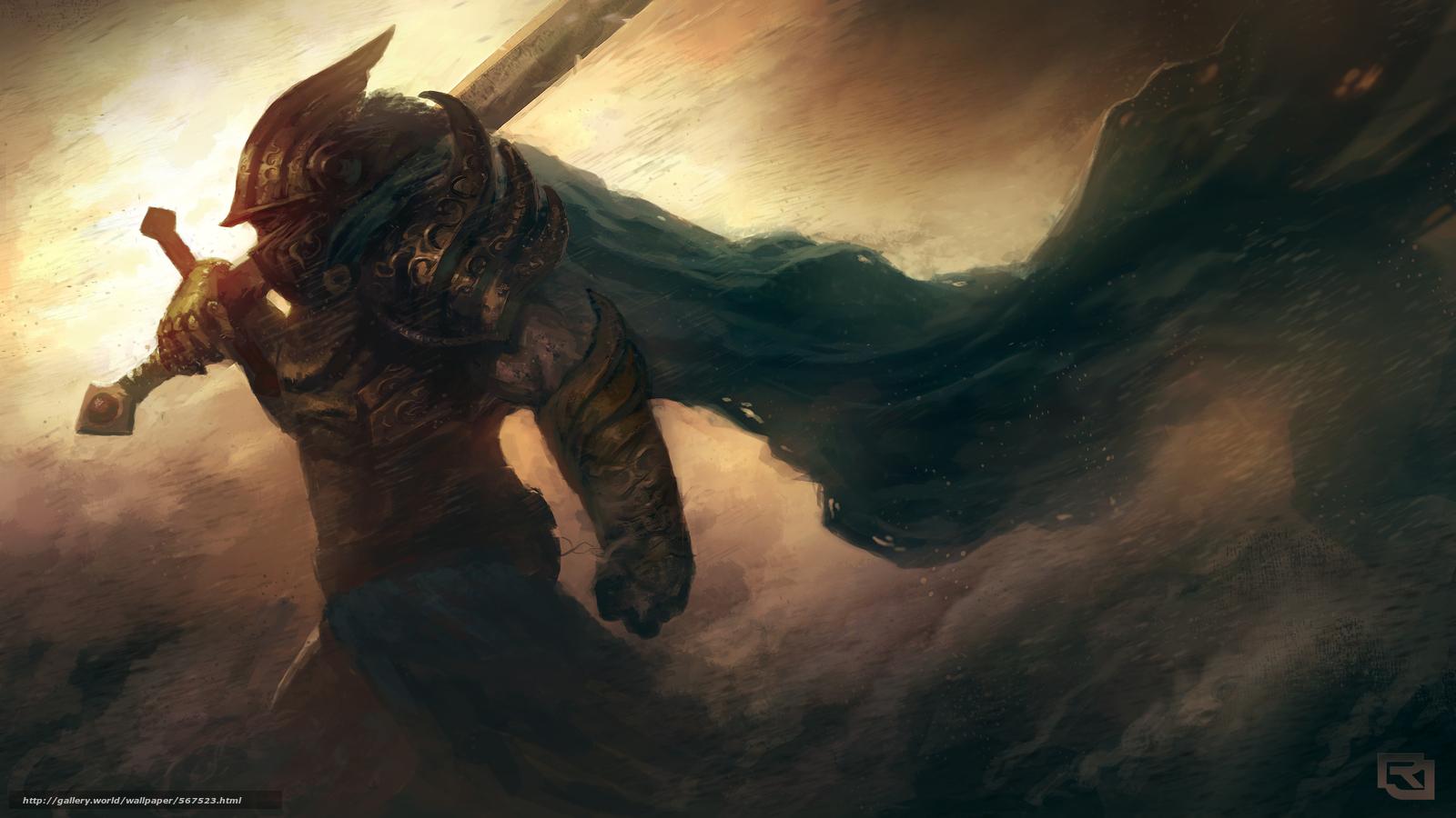 scaricare gli sfondi fiato,  casco,  spada,  guerriero Sfondi gratis per la risoluzione del desktop 3840x2160 — immagine №567523
