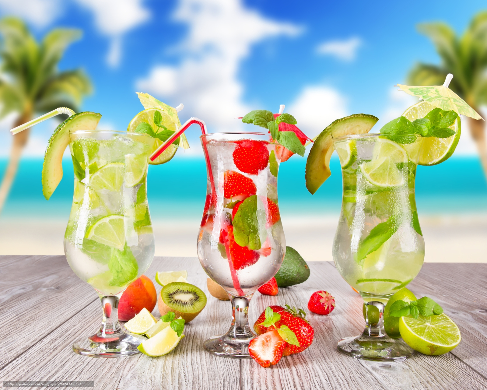 Download Wallpaper Tropical Cocktail Beach Fruits Free Desktop In The Resolution 7000x5603 Picture No567828