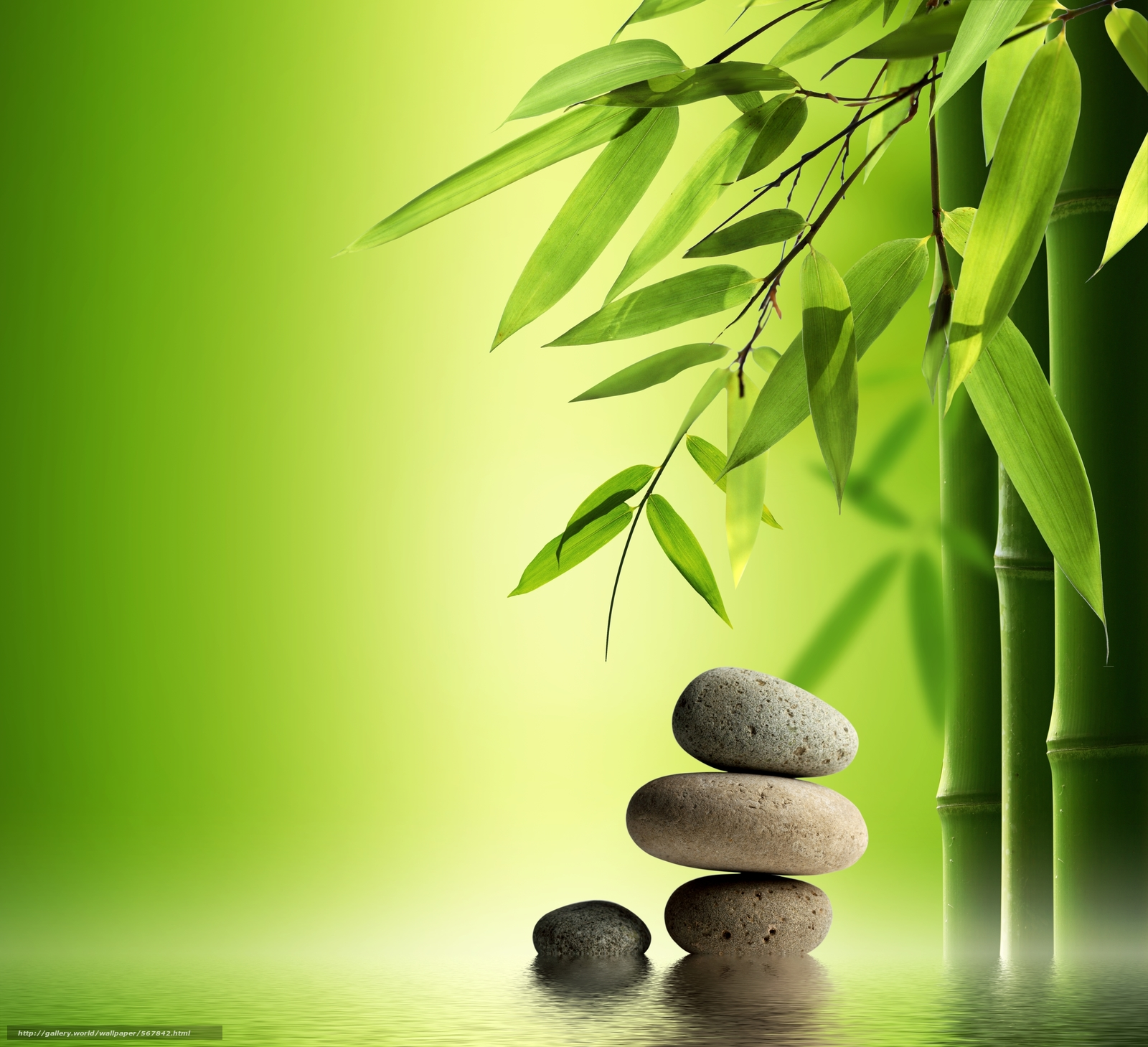 "download wallpaper spa zen stones bamboo free desktop wallpaper in the resolution 4898x4466 picture a""–567842"