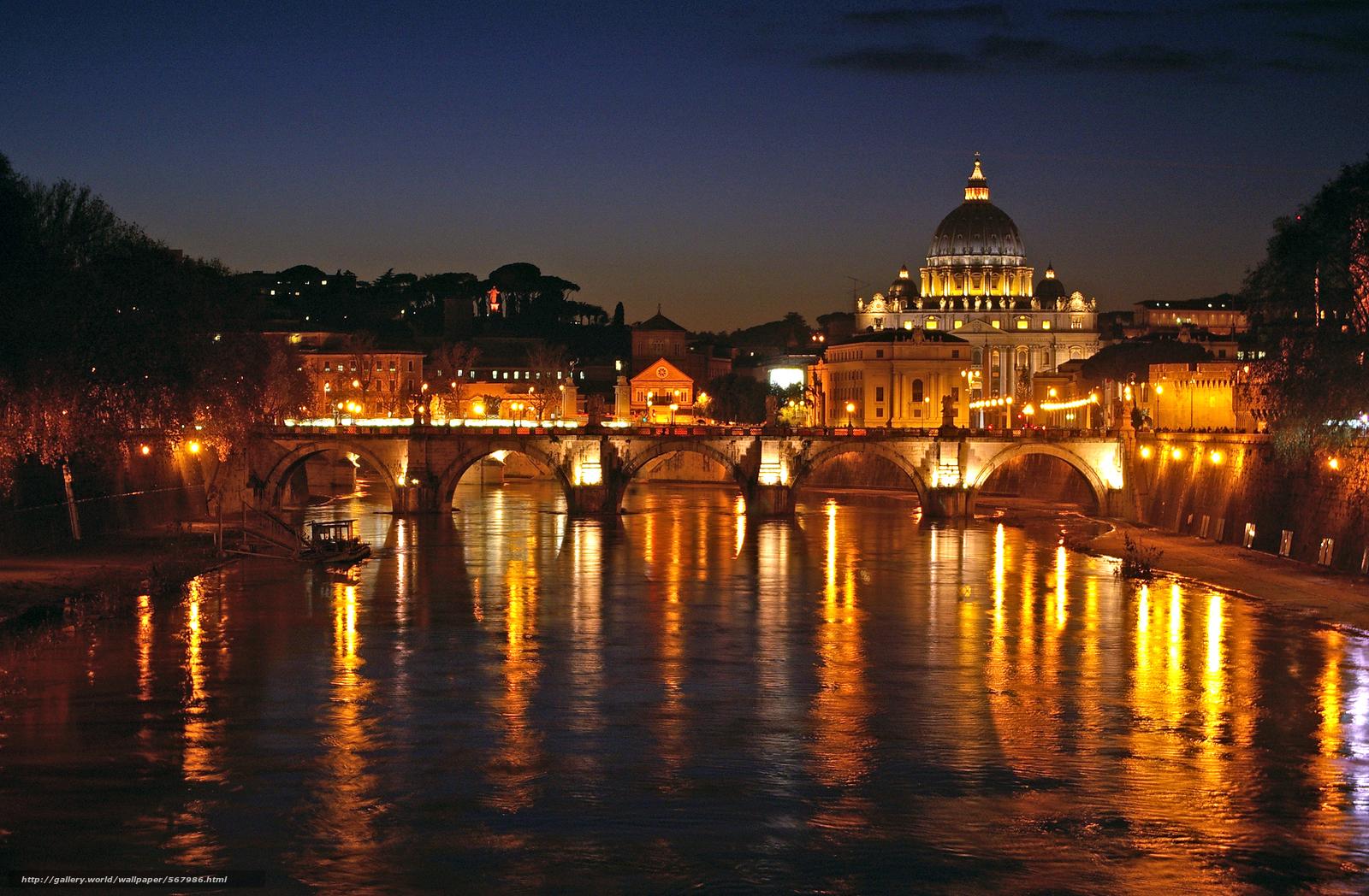 Scaricare Gli Sfondi Notte A Roma Città Luci Sfondi Gratis Per La