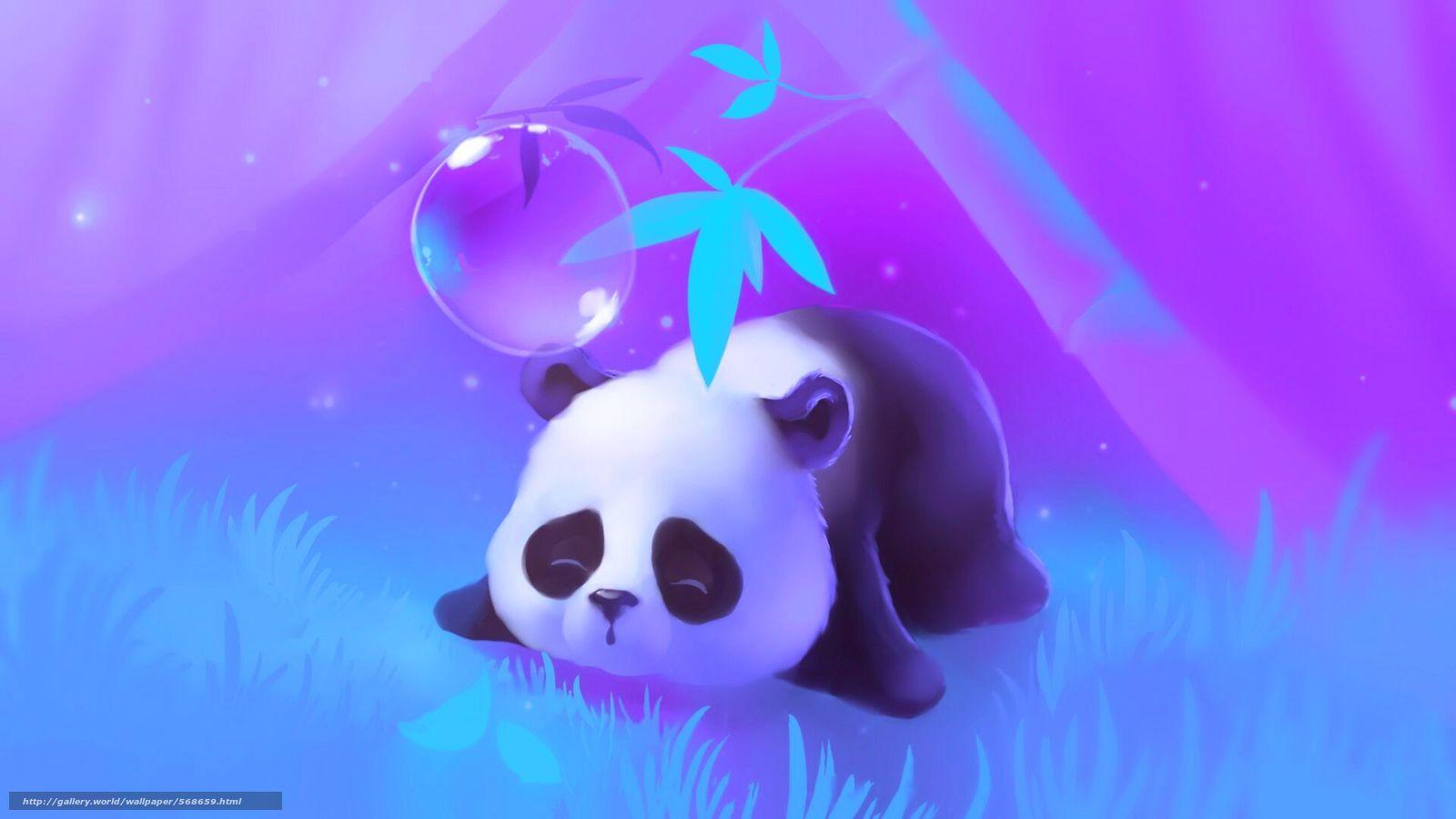 descargar gratis árbol panda duerme hierba fondos de escritorio