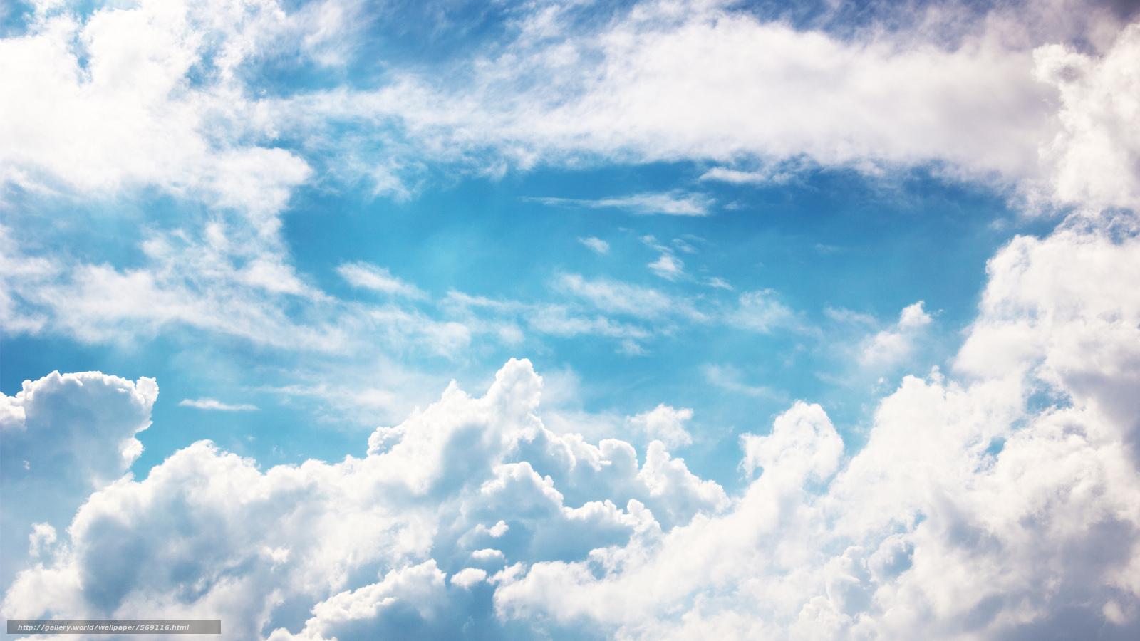 Tlcharger Fond Decran Blanc Ciel Nuages Bleu Fonds D