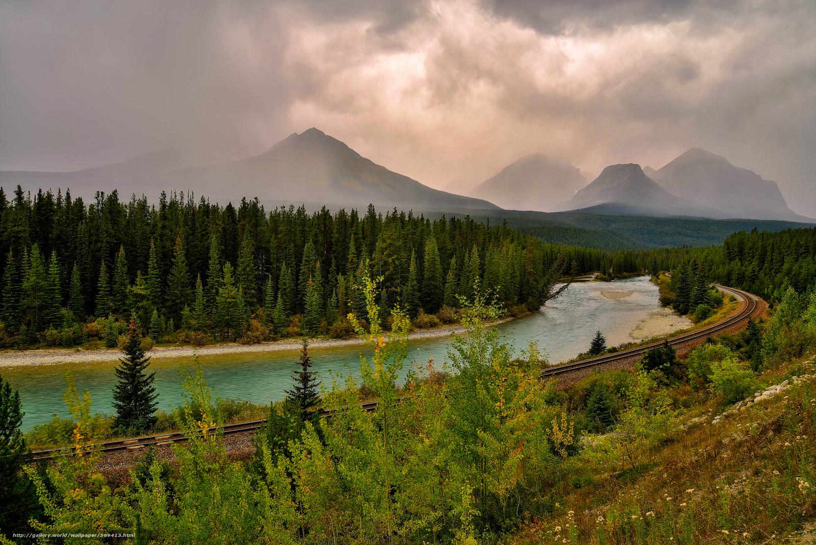 scaricare gli sfondi fiume,  foresta,  ferrovia,  Montagne Sfondi gratis per la risoluzione del desktop 2000x1335 — immagine №569413