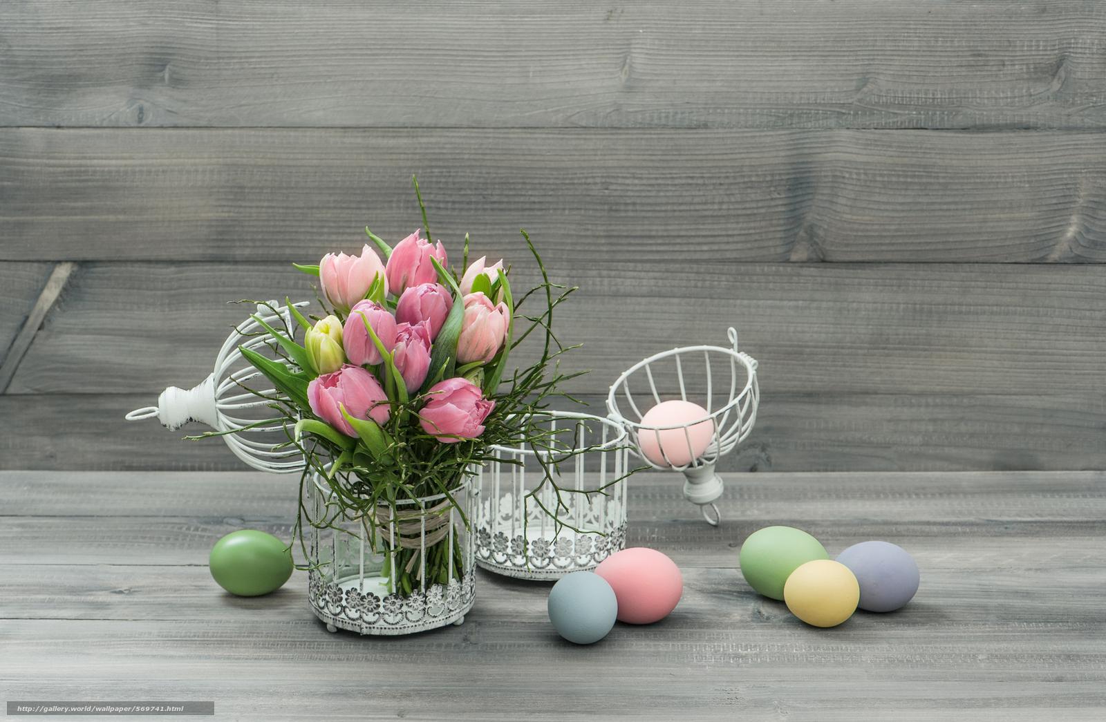 Tlcharger fond d 39 ecran tulipes ufs fleurs les oeufs de for Fond ecran paques