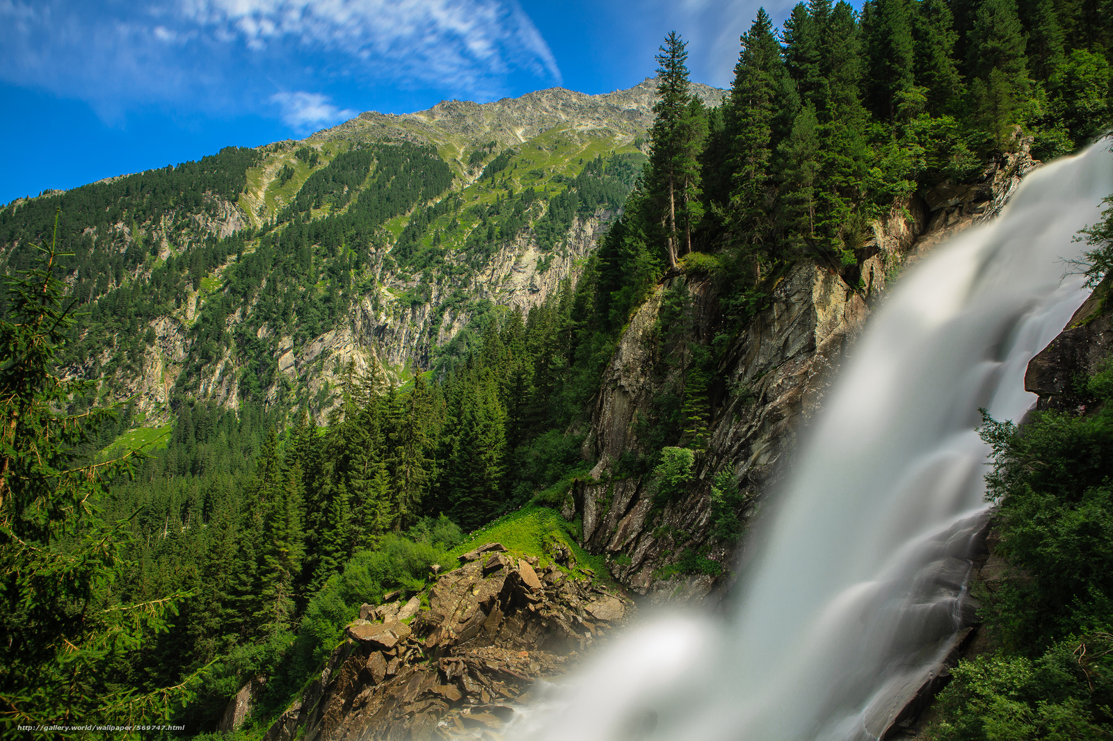 Download wallpaper FLOW,  forest,  Mountains,  Alps free desktop wallpaper in the resolution 2048x1365 — picture №569747