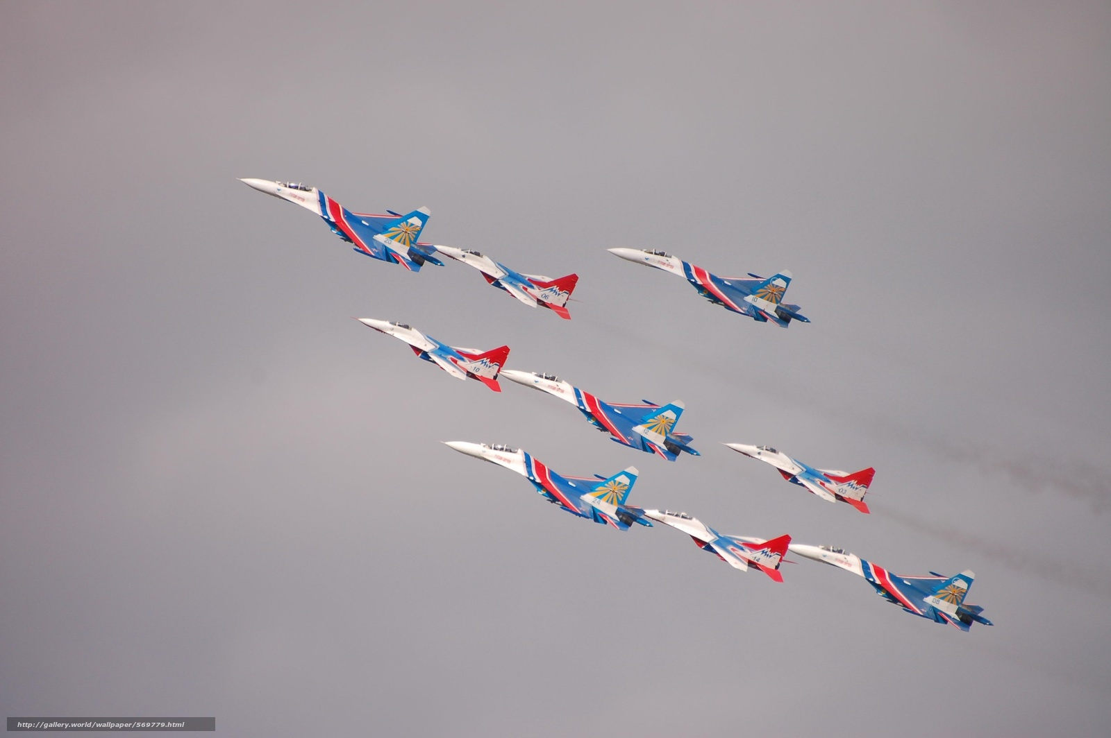 Скачать обои высший пилотаж,  Стрижи,  Русские витязи бесплатно для рабочего стола в разрешении 3008x2000 — картинка №569779