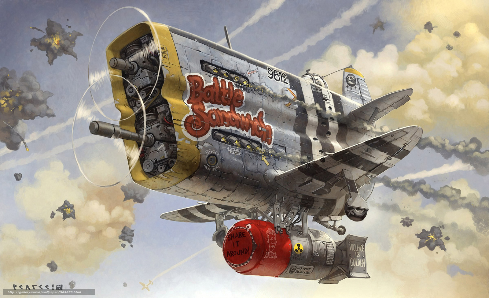 Tlcharger fond d 39 ecran combat acharn bombe nucl aire for Bureau grotesque