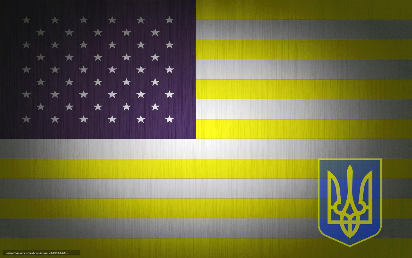 scaricare gli sfondi bandiera,  Consistenza,  USA,  Ucraina Sfondi gratis per la risoluzione del desktop 1680x1050 — immagine №569928