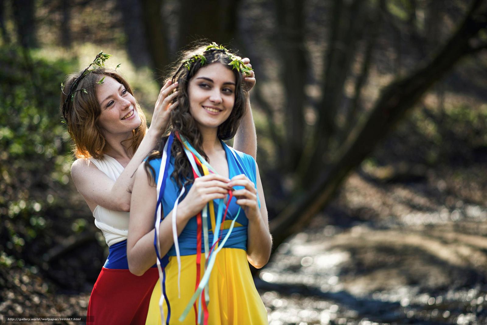 Скачать обои мир,  флаги платья,  Россия,  девушки бесплатно для рабочего стола в разрешении 2048x1367 — картинка №569967