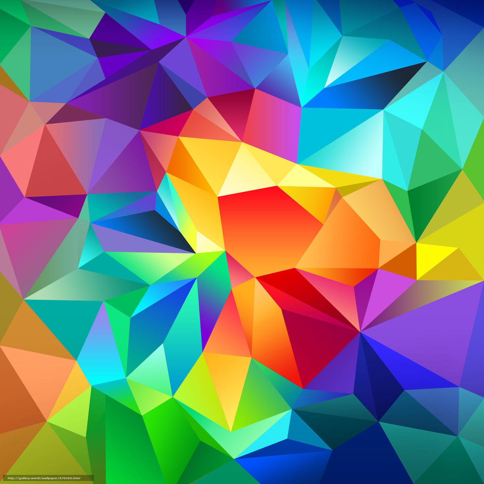 Скачать обои цвет,  треугольник,  свет,  линии бесплатно для рабочего стола в разрешении 1920x1920 — картинка №570355
