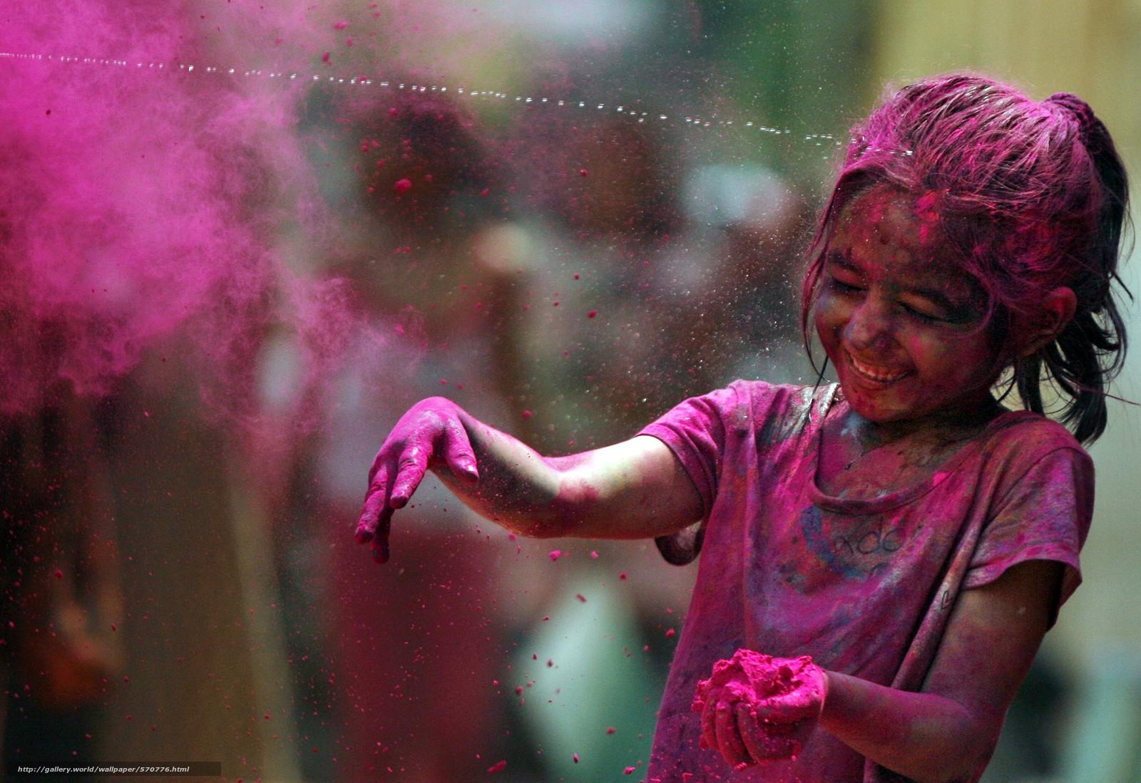 Скачать обои радость,  фестиваль красок,  радуга бесплатно для рабочего стола в разрешении 6833x4694 — картинка №570776