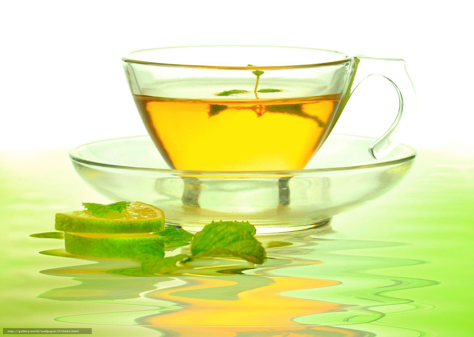 Зеленый чай обои для рабочего стола