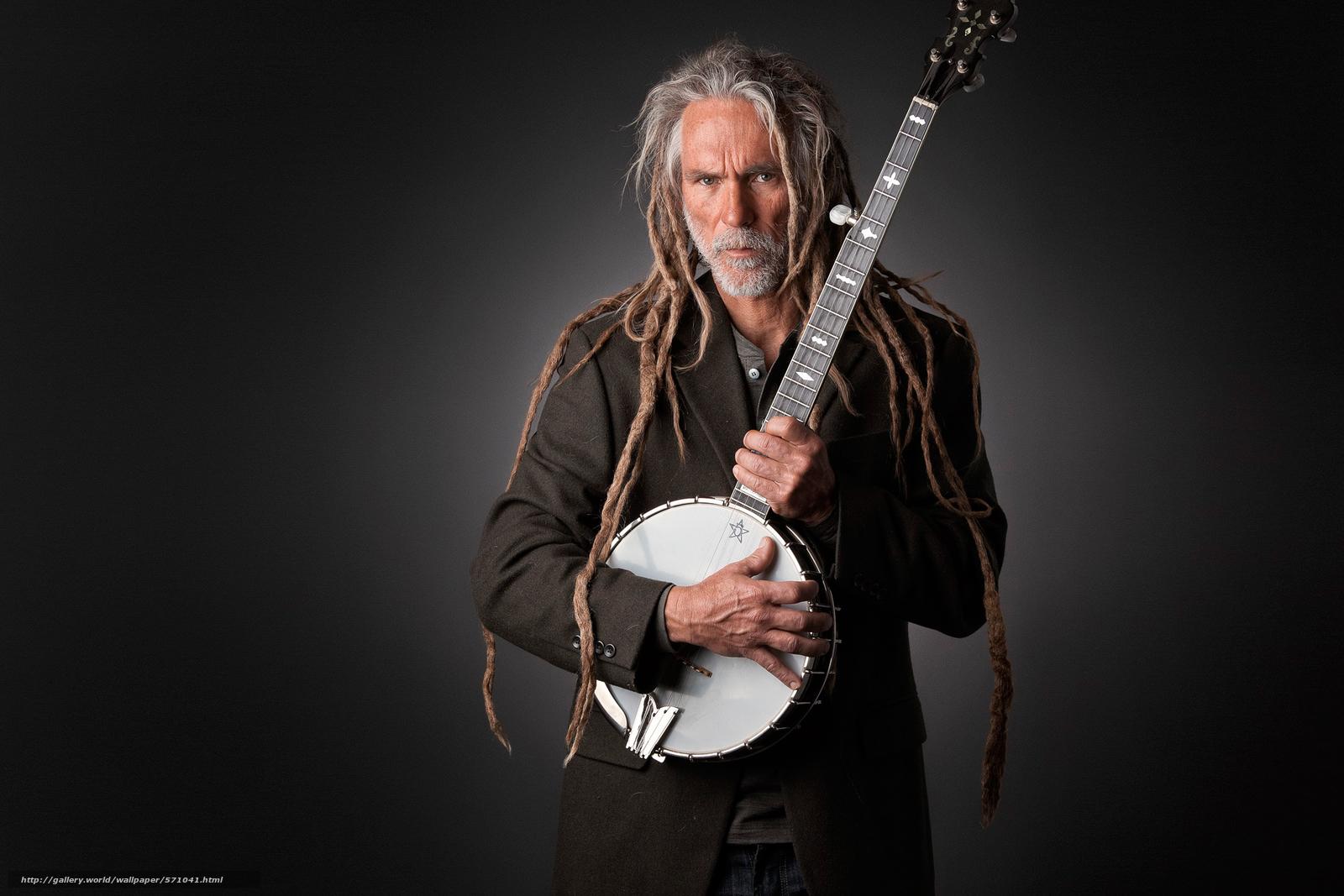 Tlcharger fond decran banjo studio musicien portrait fonds d