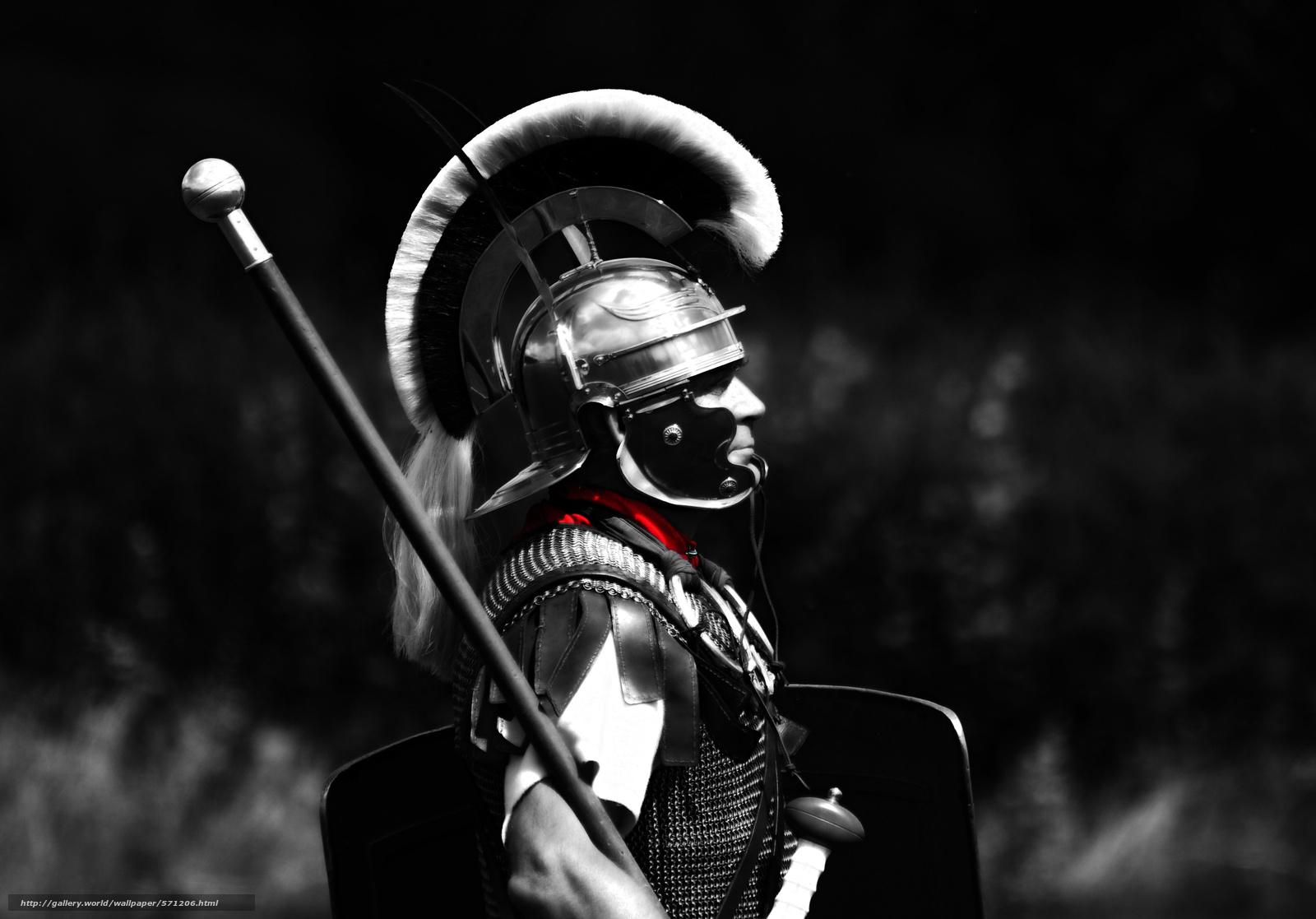Скачать обои шлем,  легионер,  Центурион,  мужчина бесплатно для рабочего стола в разрешении 3659x2555 — картинка №571206