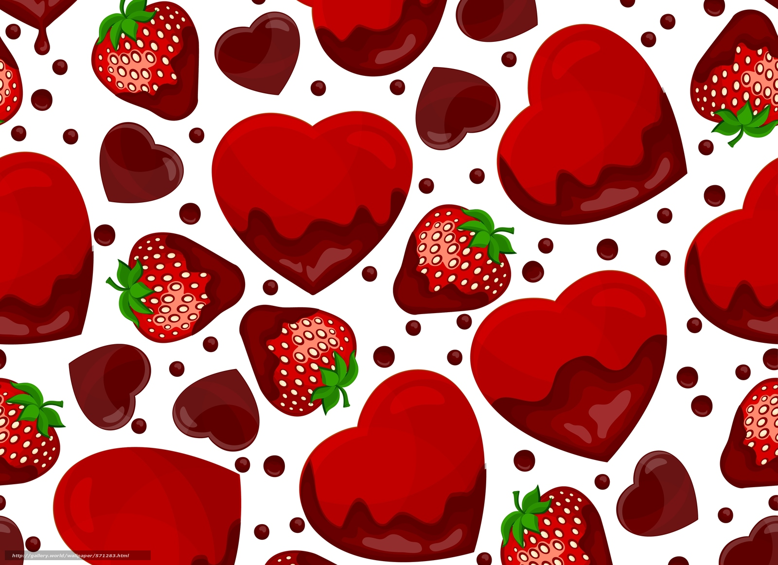 Download wallpaper TEXTURE,  strawberry,  hearts free desktop wallpaper in the resolution 4167x3026 — picture №571283