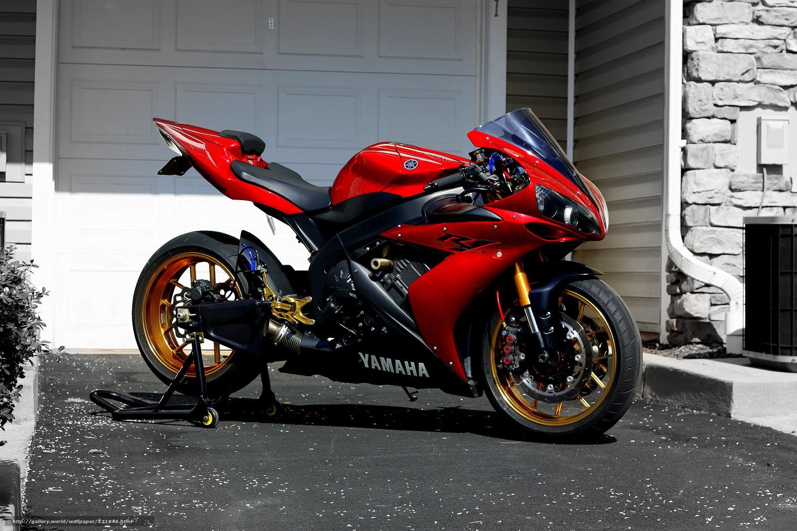 pobra tapety Yamaha,  R1,  czerwony,  Sportbikes Darmowe tapety na pulpit rozdzielczoci 4272x2848 — zdjcie №571846