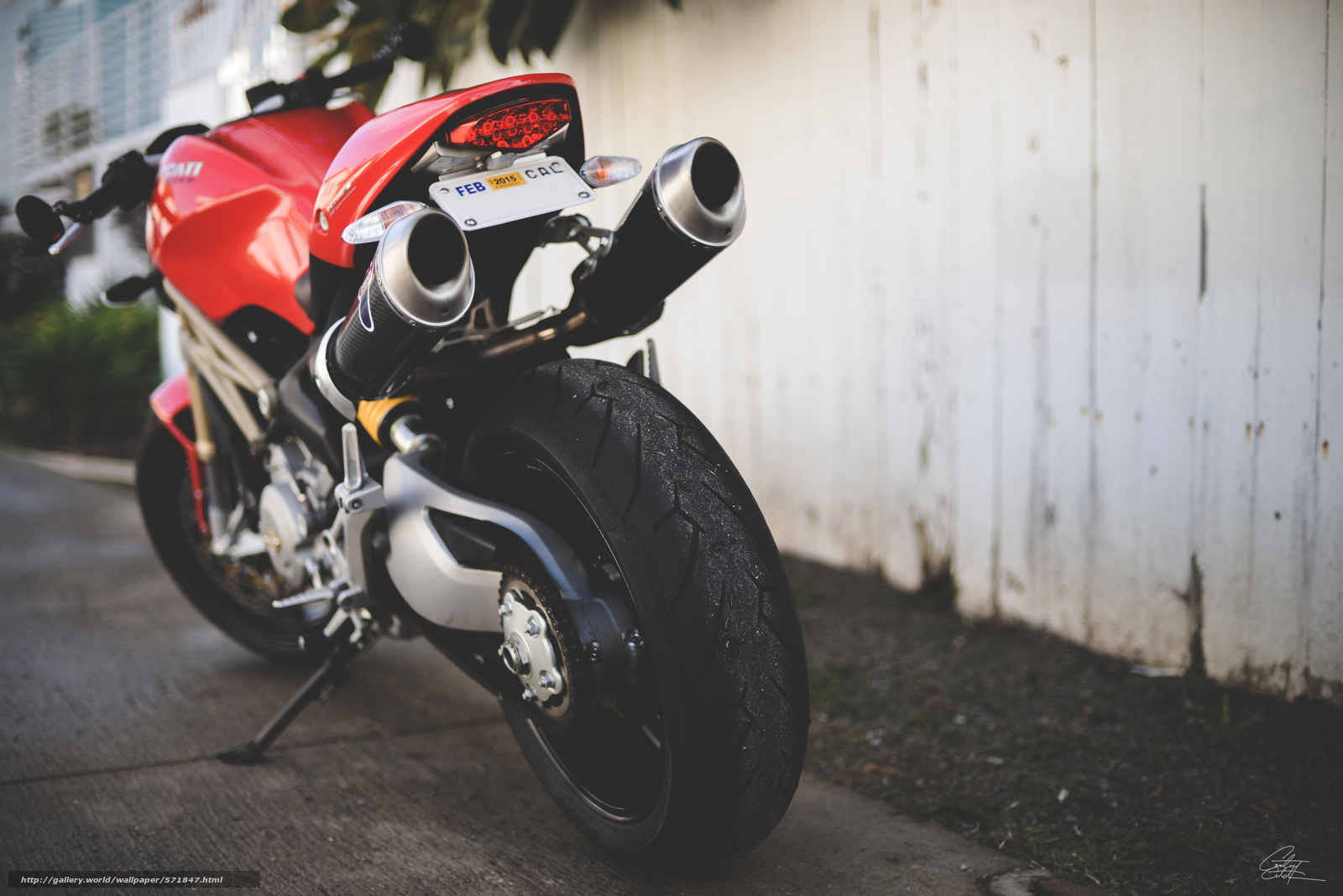 Download wallpaper Ducati,  red,  silencer,  Ducati monster free desktop wallpaper in the resolution 6016x4016 — picture №571847