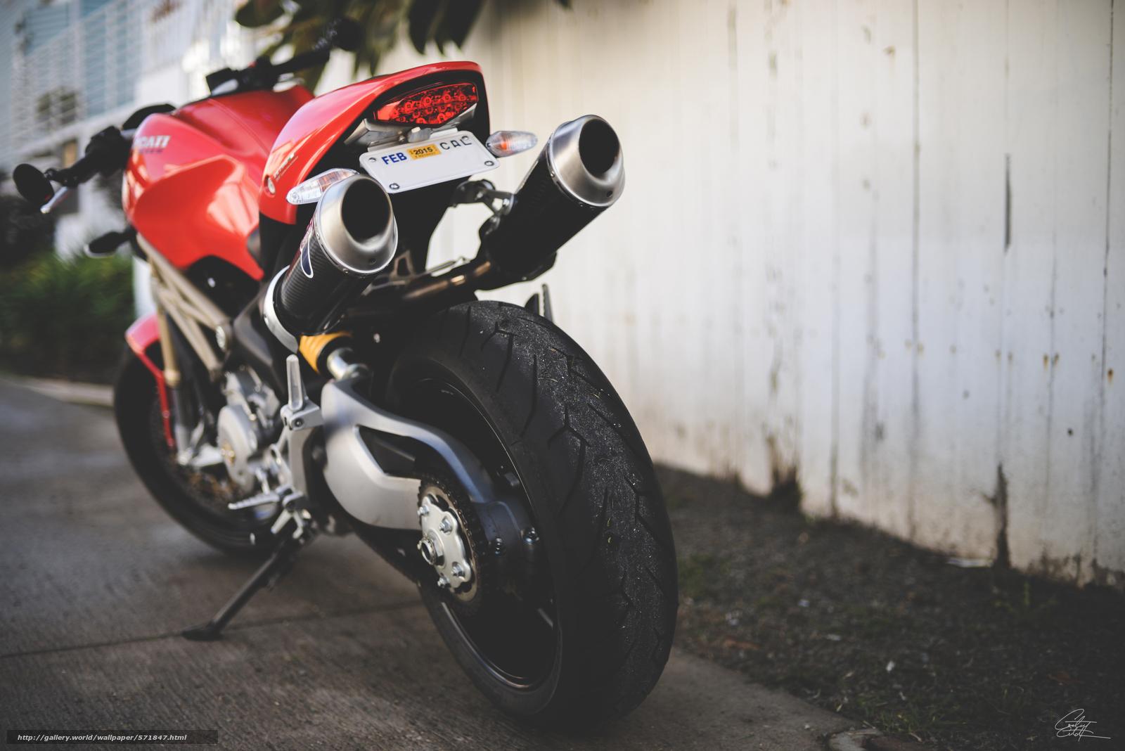 pobra tapety Ducati,  czerwony,  tłumik,  Ducati Monster Darmowe tapety na pulpit rozdzielczoci 6016x4016 — zdjcie №571847