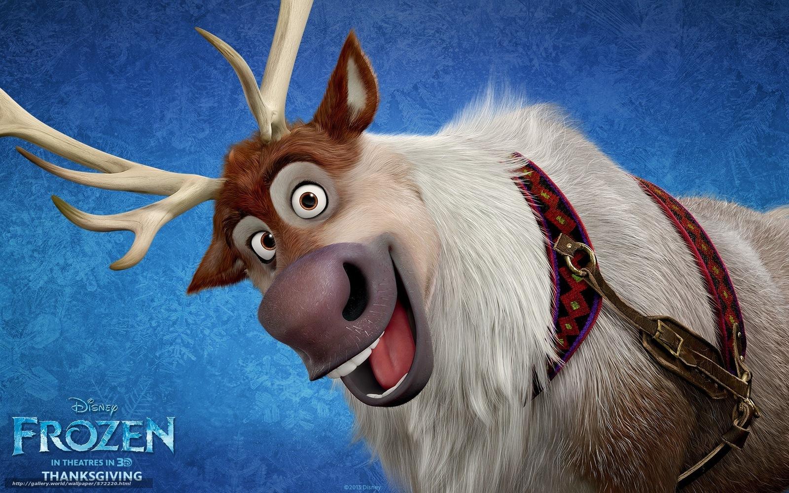 scaricare gli sfondi Cold Heart,  Sven,  cervo,  Cartone animato Sfondi gratis per la risoluzione del desktop 1920x1200 — immagine №572220