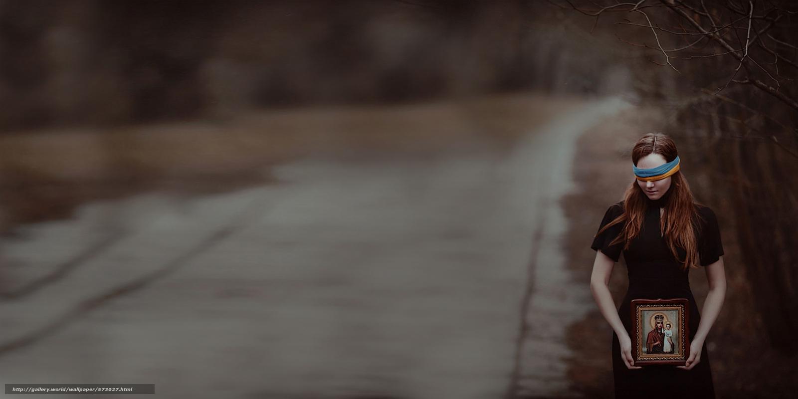 scaricare gli sfondi preghiera per l'Ucraina,  Bandiera della fascia,  icona,  ragazza Sfondi gratis per la risoluzione del desktop 2160x1080 — immagine №573027