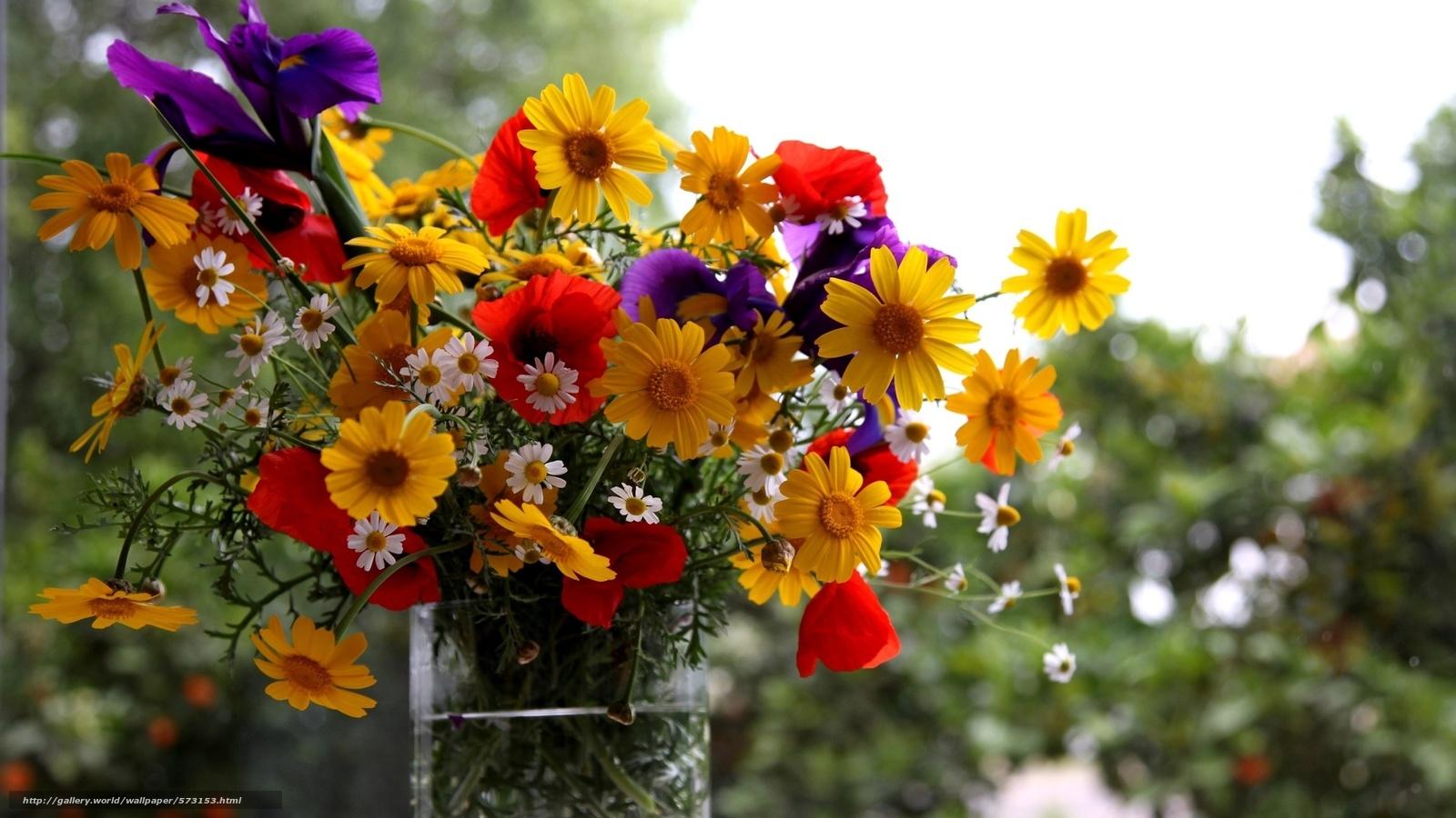 Tlcharger fond d 39 ecran vase fleurs t bouquet fonds d for Fond ecran ete fleurs