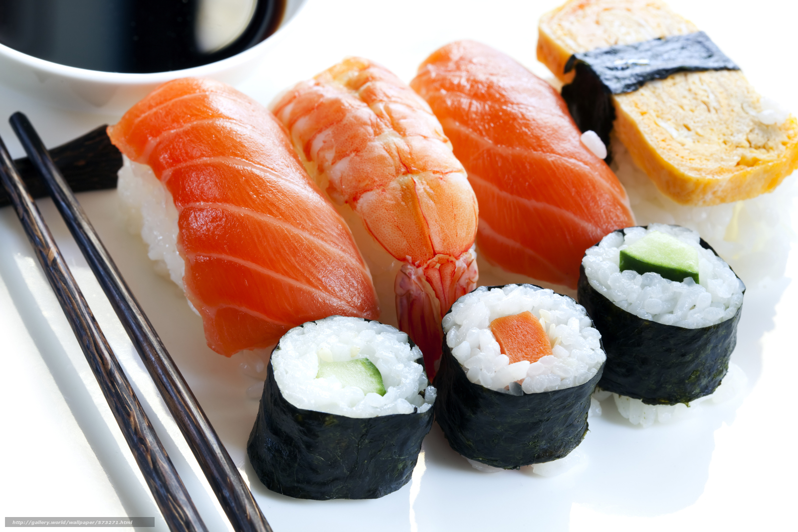 Download wallpaper salmon,  sushi,  sashimi,  red fish free desktop wallpaper in the resolution 7000x4667 — picture №573271