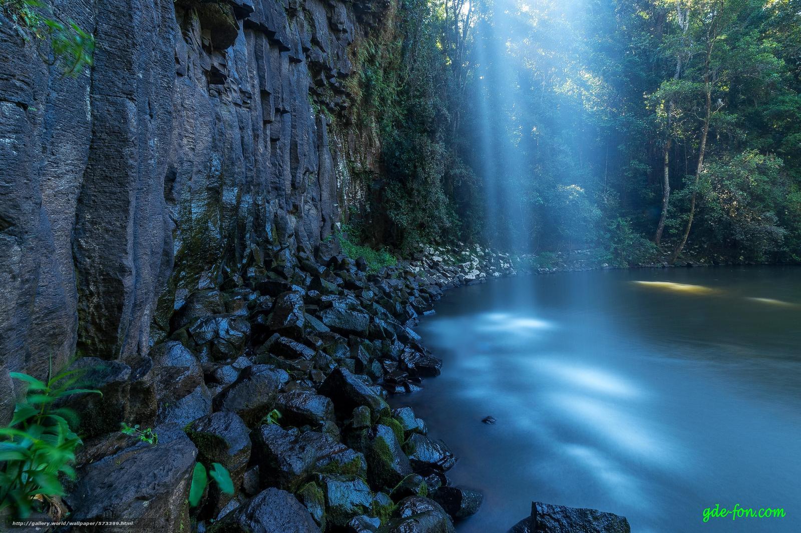 scaricare gli sfondi cascata,  Rocce,  pietre,  pond Sfondi gratis per la risoluzione del desktop 4928x3280 — immagine №573399
