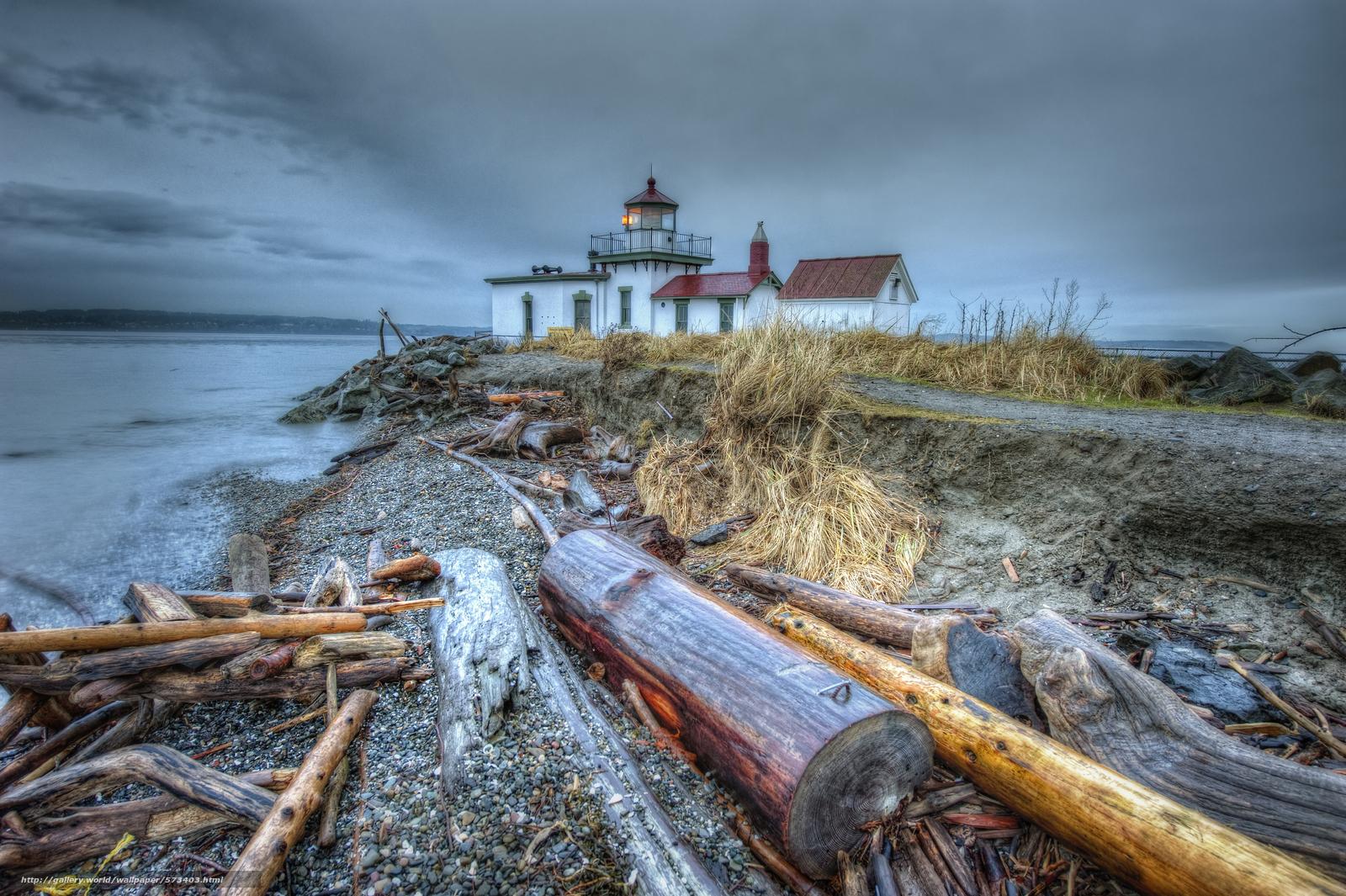 scaricare gli sfondi Discovery Park a Seattle,  Washington,  puntellare,  faro Sfondi gratis per la risoluzione del desktop 4256x2832 — immagine №573403