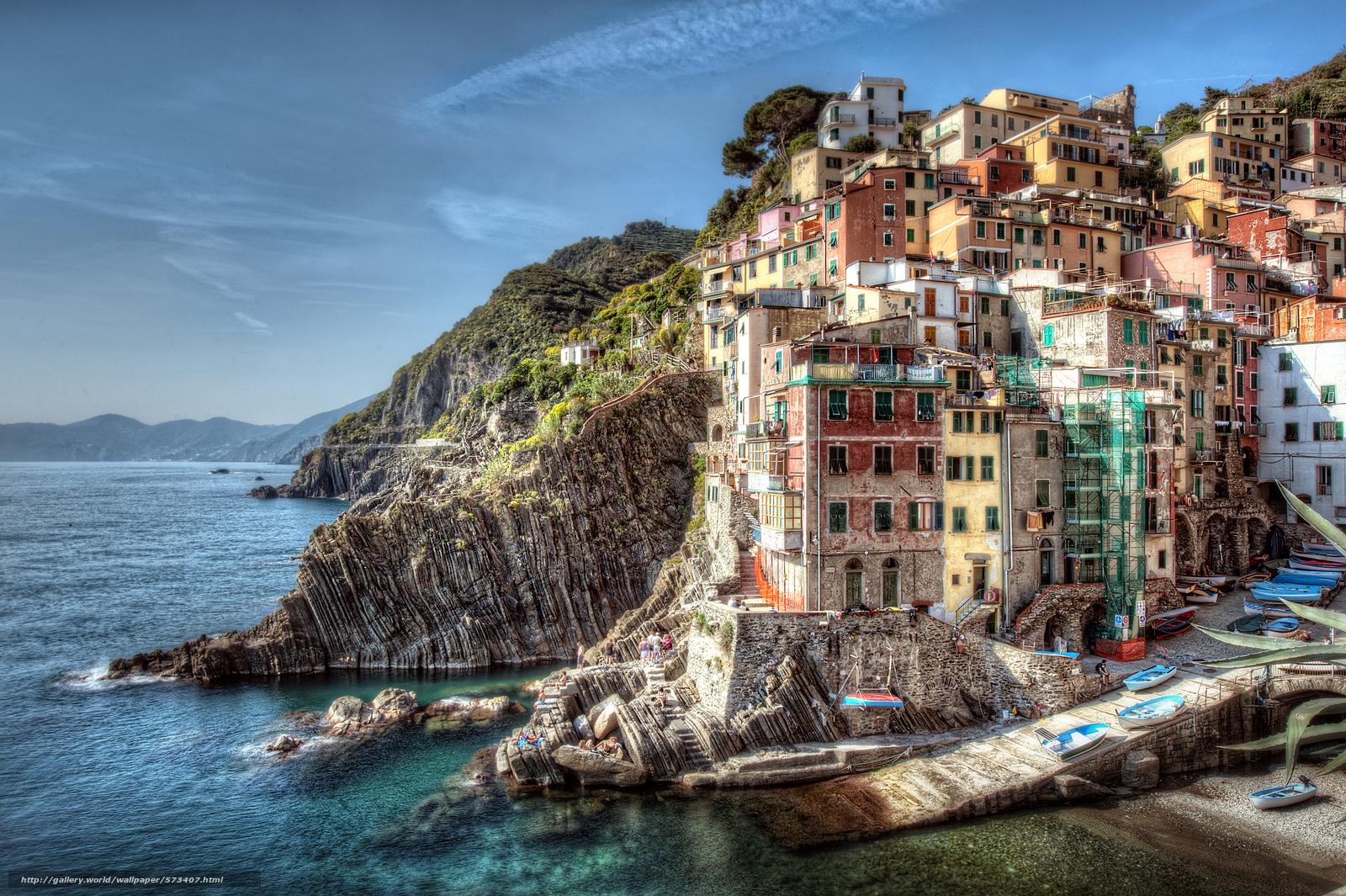 下载壁纸 五渔村,  意大利,  城市 免费为您的桌面分辨率的壁纸 3957x2633 — 图片 №573407