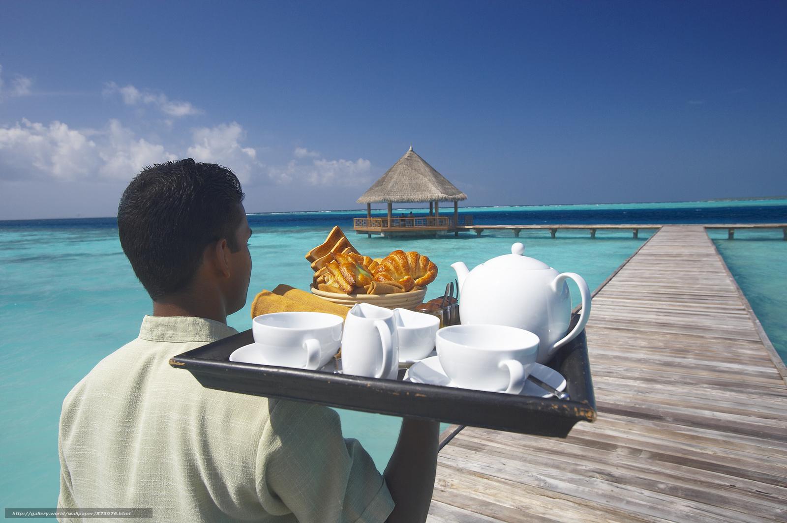 Скачать обои еда,  облака,  океан,  поднос бесплатно для рабочего стола в разрешении 2048x1362 — картинка №573976