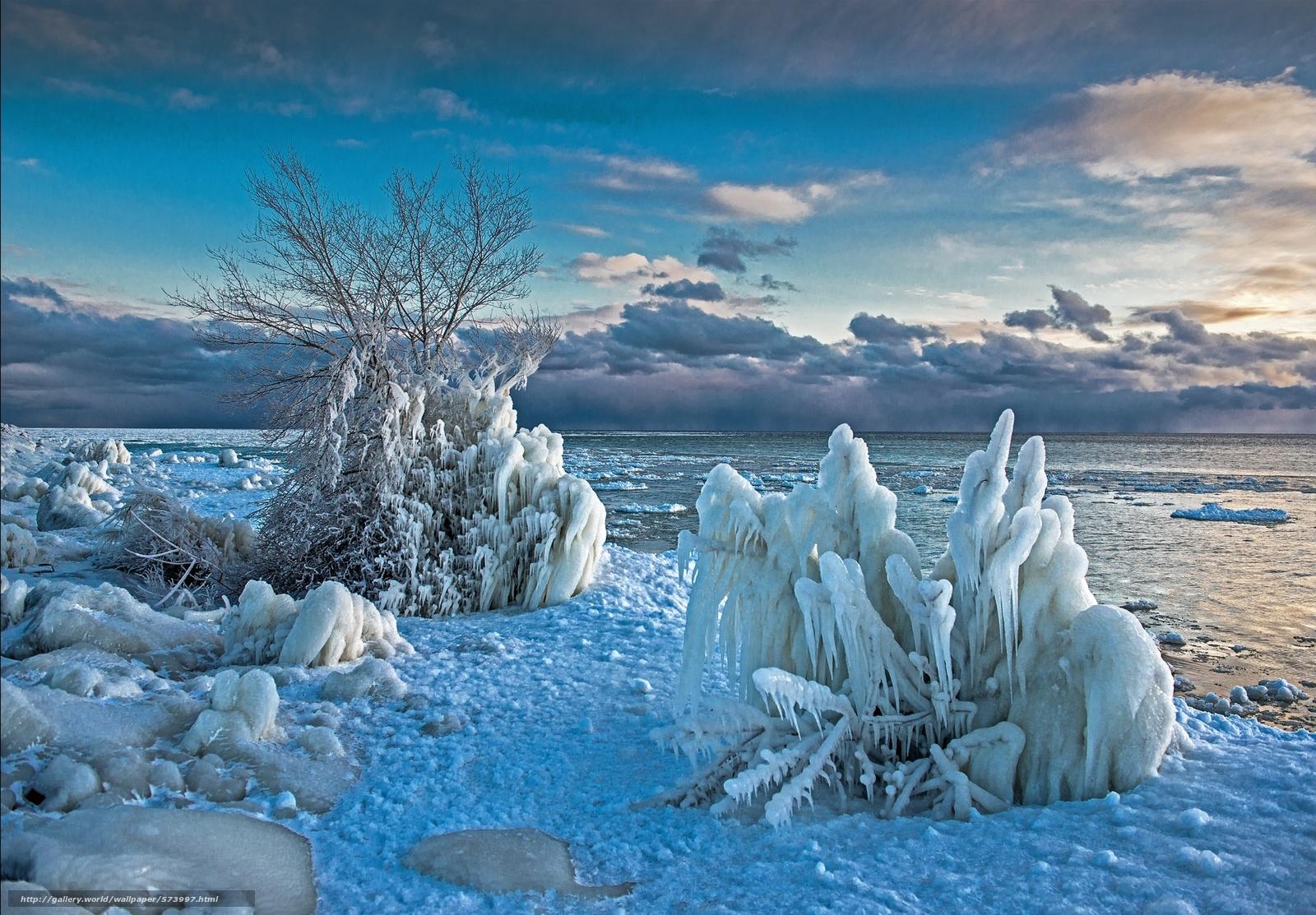 обои море зимой для рабочего стола № 632268 бесплатно