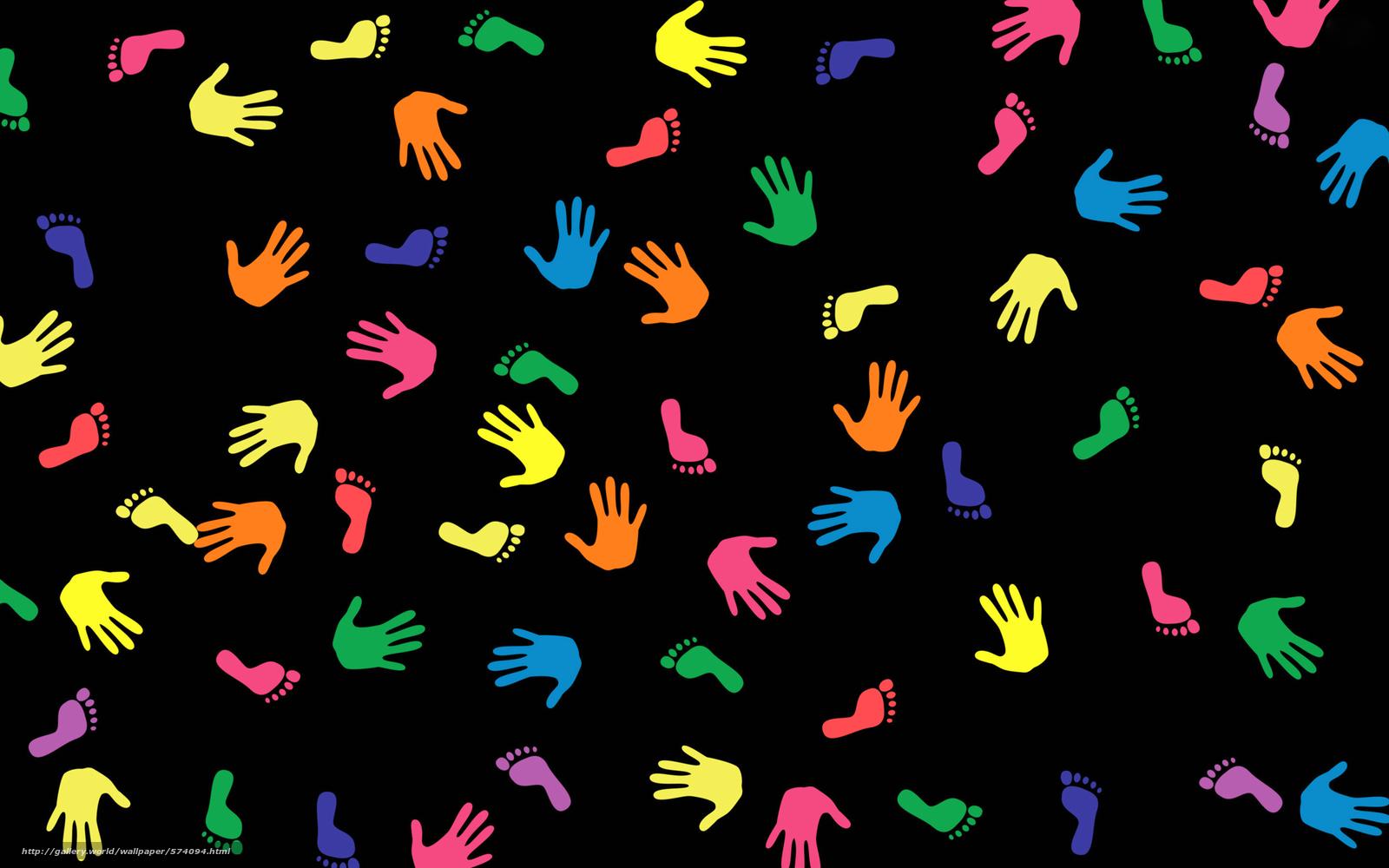 Скачать обои цвет,  ступня,  ладонь,  след бесплатно для рабочего стола в разрешении 2560x1600 — картинка №574094