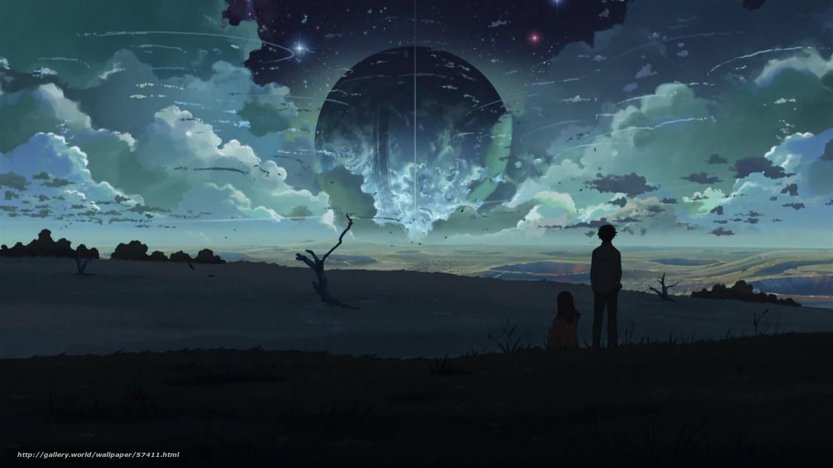 壁紙をダウンロード 新海誠, ファンタジー, 惑星 デスクトップの解像度...    惑星 デス